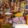 O Quarto De Flores Livros Quadros Pintor Hassam Tela Repro
