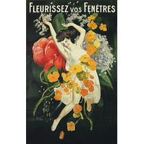 Flores Mulher Fenetres Poster Repro