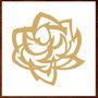 Quadros Decorativos Rosas Flores Em Mdf Escultura Parede Crú
