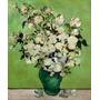 Lindo Vaso Com Rosas 1890 Pintor Van Gogh Na Tela Repro