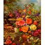 Vaso Flores Coloridas Primavera Pintor Williams Repro Tela