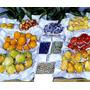 Feira Frutas Pêra Uva Morango Pintor Caillebotte Tela Repro