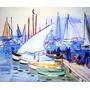 Barcos De Pesca Cannes França Pintor Raoul Dufy Tela Repro