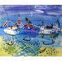 Veneza Itália Gôndola Turismo Pintor Raoul Dufy Tela Repro