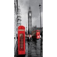 Quadro 3d Londres Big Ben Moldura Alumínio - Frete Grátis