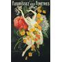 Cartaz Poster Vintage Francês Linda Mulher Flores Dança