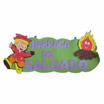 Painel Eva- Placa Barraca Do Salgado - Festa Junina