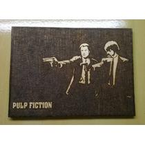 Pulp Fiction Quadro Pirógrafo Tarantino Samuel L Jackson