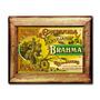 Quadro Cervejaria Brahma C/ Moldura Em Madeira
