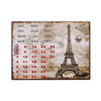 Calendário De Parede Torre Eiffel Em Metal