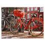 Tela Impressa Bikes Vermelha Fullway