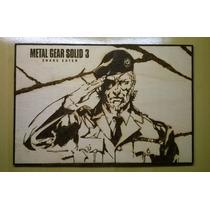 Big Boss Metal Gear Solid 3 Snake Eater Pirógrafo Old Snake