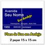 Placa De Rua Com Seu Nome Em Azulejo - 15 X 30 Cm