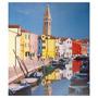Tela Impressa Barcos No Canal Em Veneza Fullway