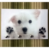 Porta Chave Placa Decorativa Pet Cachorro Filhote Quadro