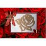 Placa Rosa Flores Mdf Cru ( 03 Unidades )