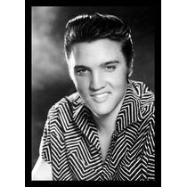 Quadro Poster Decorativo Elvis Presley A3 C/ Moldura E Vidro
