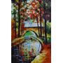 Tela A Óleo Pintura A Mão- Canal Saint Martin Paris 35x65cm