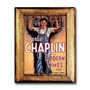 Quadro Charlie Chaplin In Modern Times C/ Moldura Em Madeira