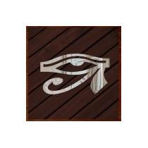 Quadro Decorativo Adorno De Luxo Espelhado Olhos De Horus