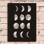 Poster Com Moldura Fases Da Lua #