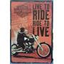 Anel Abridor + Vintage Placa Decorativa, Harley Davidson