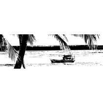 Quadro Pirografado Da Praia De Pajuçara, Maceió-al Artesanal