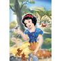 Quadro Decoração Disney Princesa Branca De Neve - 30x44 Cm
