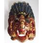 Máscara Mitologia Da Indonésia Madeira Esculpida Mão Bali