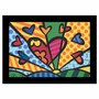 Quadro Releitura Romero Britto - New Day (55x85cm) Mold. Pr