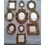 2 Kit 9 Espelhos Com Moldura De Resina Ouro Velho Promoção