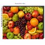 Quadro Decorativo Cozinha Frutas Retro 60x40