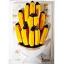 Quadro Bananas Sobrepostas Madeira (20x25 Cm)