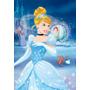 Quadro Decoração Disney Princesa Cinderela - 30x44 Cm