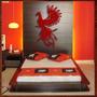 Quadro Decorativo Escultura Parede Madeira Mdf - Fenix 80 Cm