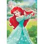 Quadro Decoração Disney Princesa Ariel - 30x44 Cm