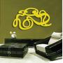 Quadro Abstrato Em Escultura De Mdf Vazado 1mt Pintura Laca