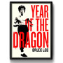 Quadro Bruce Lee Year Of Dragon Luta Kung Fu Filme Decoracao