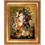 Quadro Tela Vaso Flores Pintura Jacob Van Huysum 60x40cm