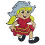 Painel Em Eva - Menina Com Vestido Vermelho Festa Junina