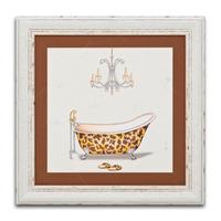 Quadro Decorativo Banheira Estampada Em Madeira