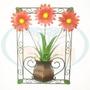 Quadro Flores Metal Margarida Amfm67 Para Sitio Fazenda