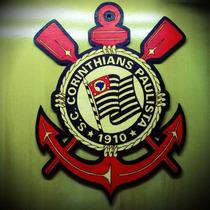 Escudo Corinthians Pirografado Futebol Time Brasão