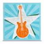 Quadro Em Canvas Guitarra Vintage Style