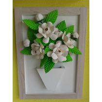 Quadro Em Mdf Com Flores De Eva - Camélia