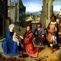 Virgem Maria Jesus Cristo Reis Magos Pintor Davi Tela Rep