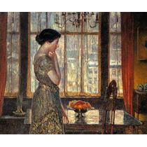 Mulher Sala De Jantar Frutas Ny 1918 Pintor Hassam Tela Repr