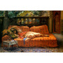 Jovem Árabe Descansando Pintor Arthur Bridgman Tela Repro