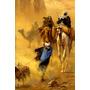 Deserto Camelo Árabes Areia Pintor Ludwig Fischertela Repro