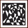 Quadro Abstrato Escultura Parede Mdf Vazada Recorte Laser
